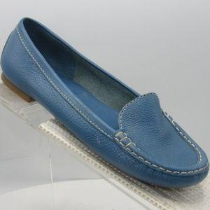 Talbots Size 5.5 B Blue Slip On Moccasins C2B C47